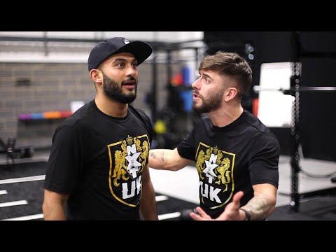 Kenny Williams pushes Amir Jordan at the UK Performance Center: WWE Exclusive, March 19, 2019