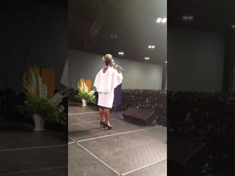 LeLe Patrice sings Katy Perry ROAR at Atlanta Technical College Commencement