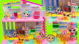 Littlest Pet Shop Slumber Party Sleep Over LPS Set with Happy Places Shoppies Doll Free HD Video