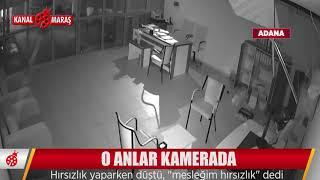 Adana'da sakar hırsız güvenlik kamerasından yakalandı