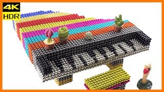 How to make Magnetic Piano | Satisfying DIY from Magnetic Balls | Top 10 Magnetics [4K]