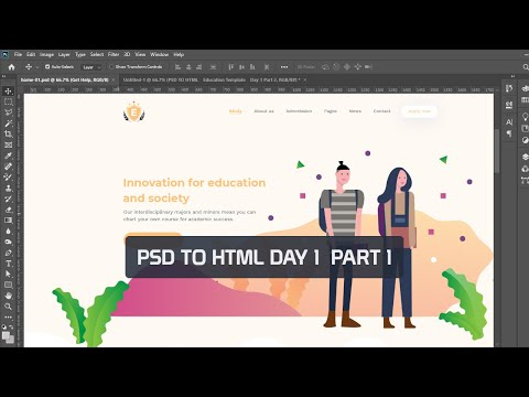 psd-to-html-bangla-tutorial-(education-template-day-1-part-1)