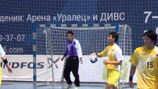 WCH U19. Japan vs Argentina. ワールドハンドボール選手権アンダー19選手権。日本対アルゼンチン、24:23、2015年8月11日