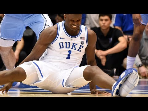 Zion Williamson Injured vs. UNC After His Nike PG 2.5 Shoe Blows Out!