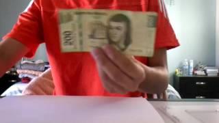 Aprende a hacer billetes falsos de $200 muy fácil