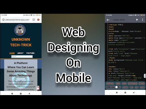 Design Create Your Own Website Full Tutorial   TrebEdit Best HTML, CSS Editor Coding App For Android