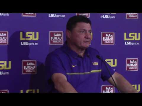 Ed Orgeron: 'We're going to be up for the challenge' of Alabama