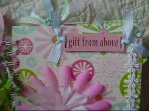 baby & birthday mini scrapbook albums