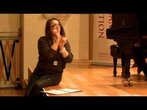 2016: Nicholas Tolputt, counter tenor. MasterClass with Barbara Frittoli and David Harper