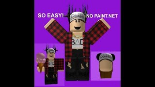 How to make a roblox icon *NO PAINT.NET SO EASY!!! *