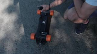 Slick Revolution Min-Eboard Electric Skateboard. Speed control Tutorial.