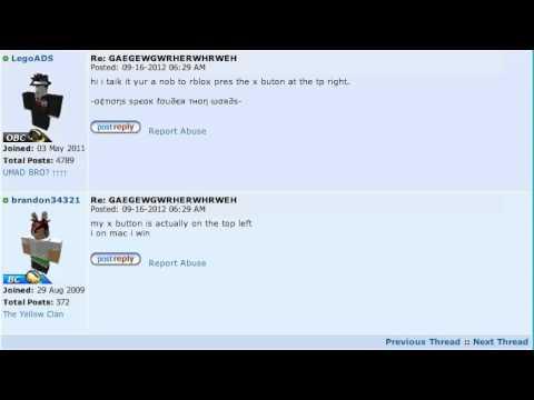 ROBLOX : Forum : Funny Posts Winner 5