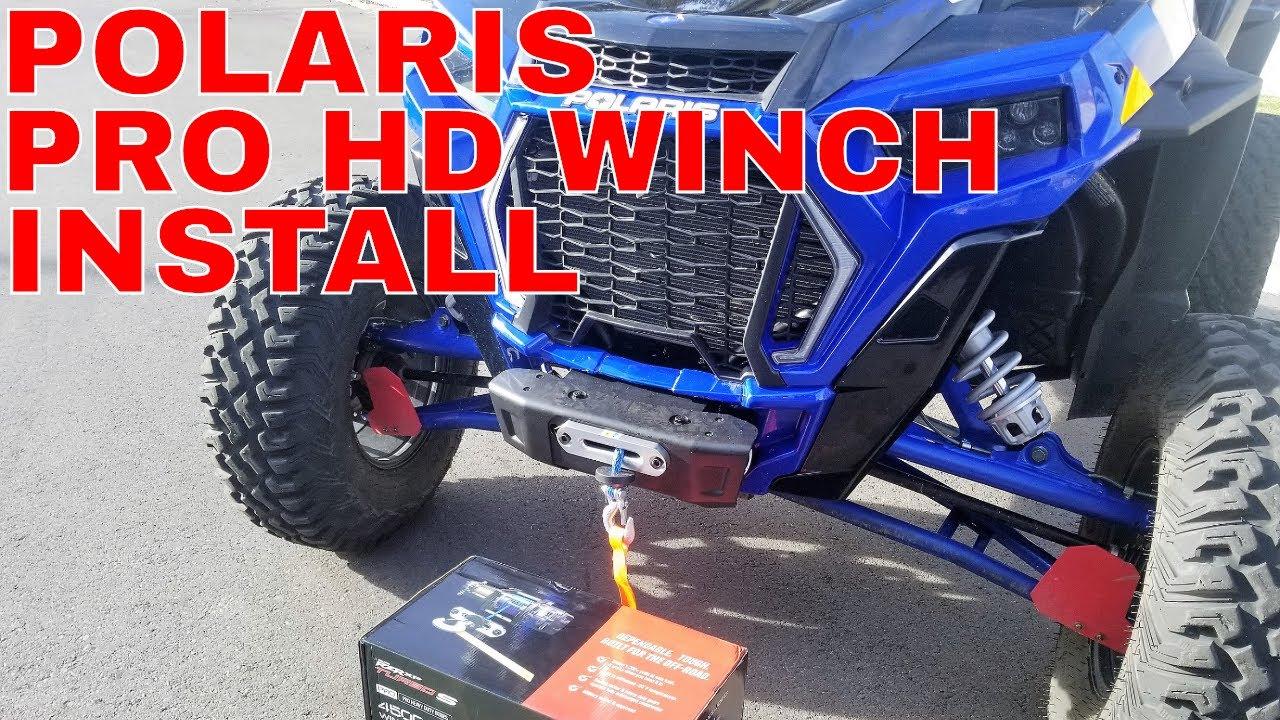 Use w// NO Bumper 2018+ SuperATV Winch Mount for Polaris RZR XP Turbo S