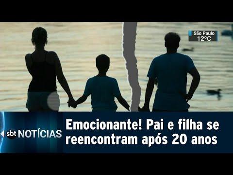 Emocionante! Jovem reencontra o pai após 20 anos de separação | SBT Notícias (11/08/18)