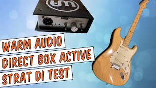 Warm Audio Direct Box Active Review - Strat DI Test