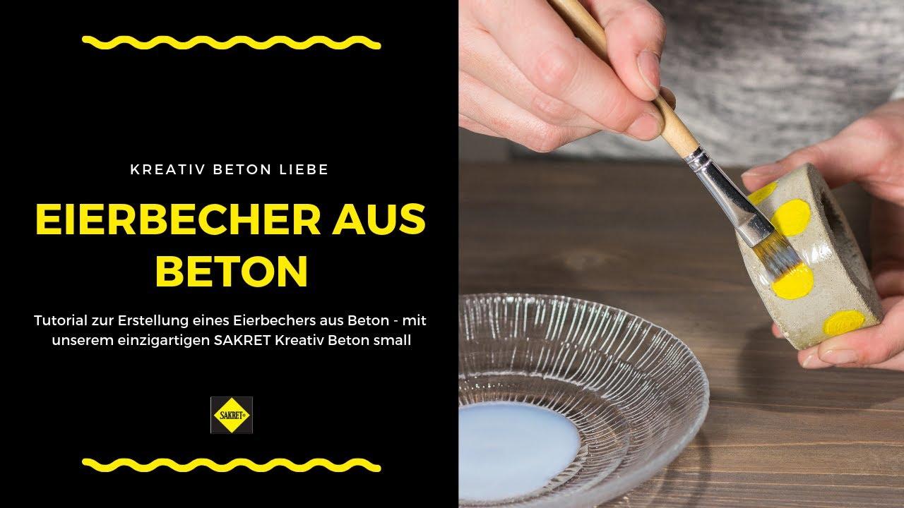 How to diy beton eierbecher selber basteln betonliebe youtube - Eierbecher selber basteln ...