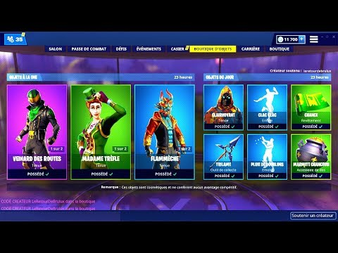 BOUTIQUE FORTNITE du 18 Mars 2019 ! ITEM SHOP March 18 2019 ! thumbnail