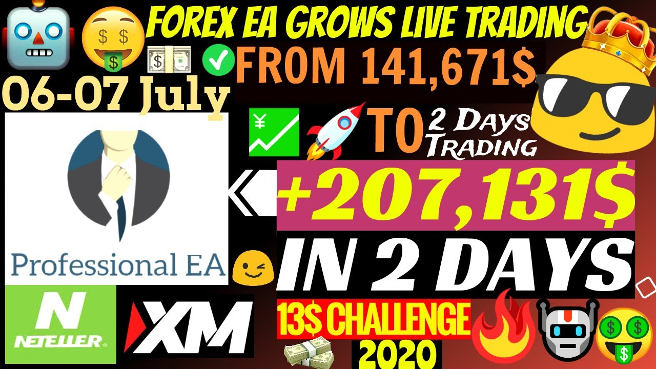 💹 Forex EA Grows Live Trading Account +207,131$ In 2 Days!!!🤑 | Professional EA