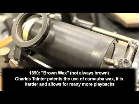 Wax Recording History - Media Recording History 1870-1900