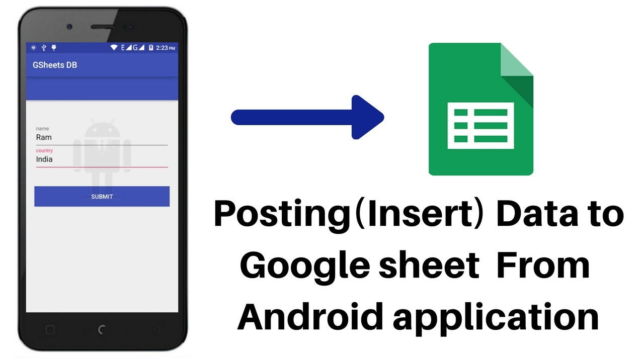 How To Use Google Sheet As DataBase For Android App Part - 2 | Post data  Sheet from Android App