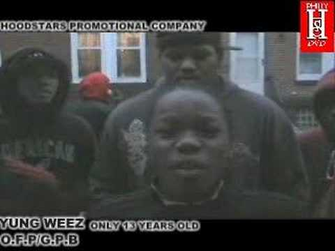 PHILLY HOODSTARS DVD YUNG WEEZ ONLY 13 YEARS OLD