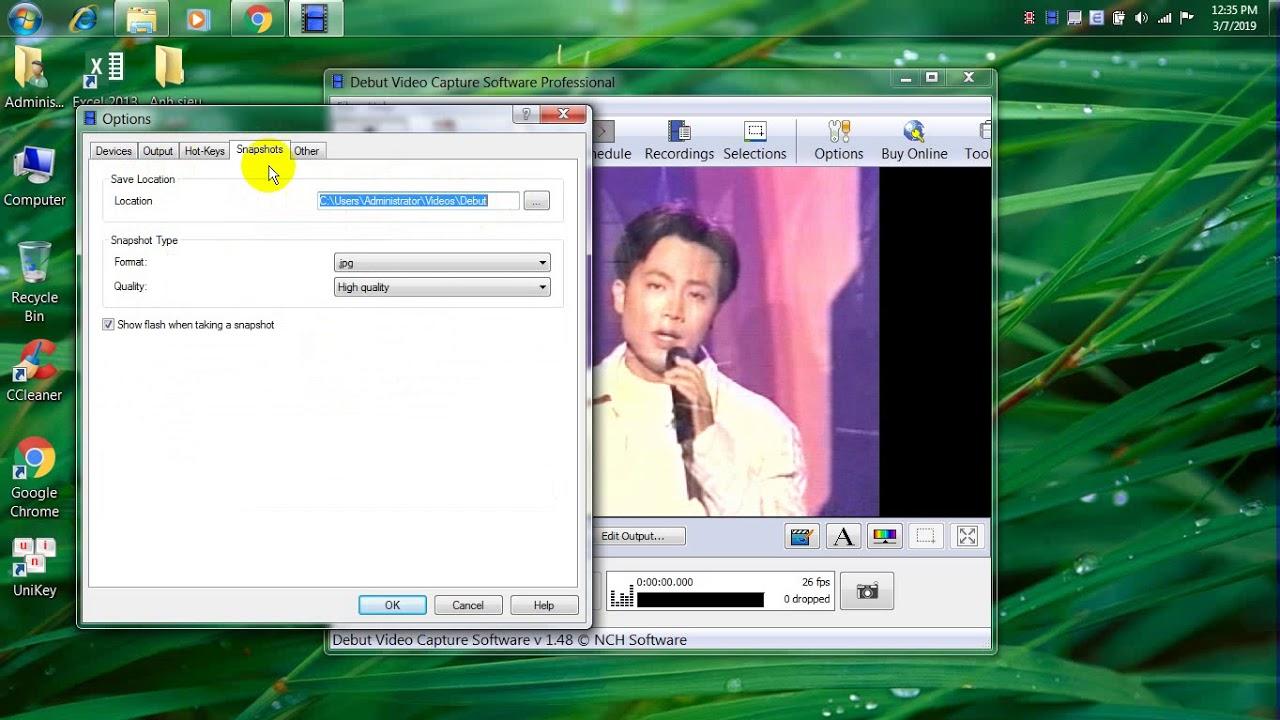 Phần mềm chụp hình máy siêu âm, nội soi Win XP, 7