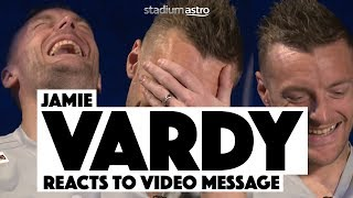 Jamie Vardy's hilarious reaction to a surprise video message | Astro Supersport