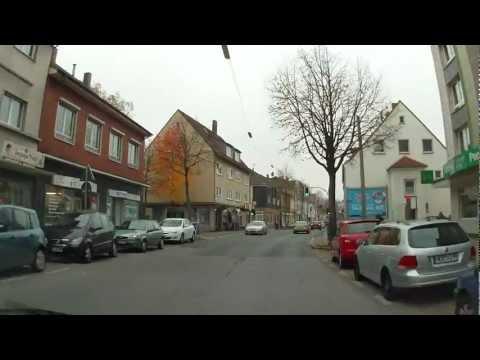 Fahrt durch Bochum-Wattenscheid zum Gertrudis-Center