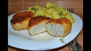 Котлеты с плавленым сыром и зеленью