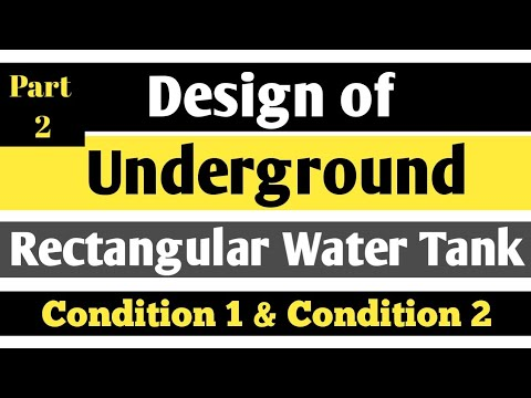 Design of Underground Rectangular Water Tank (Part 2)