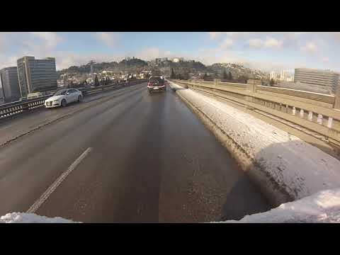 Snow in Portland time-lapse: Driving to the office