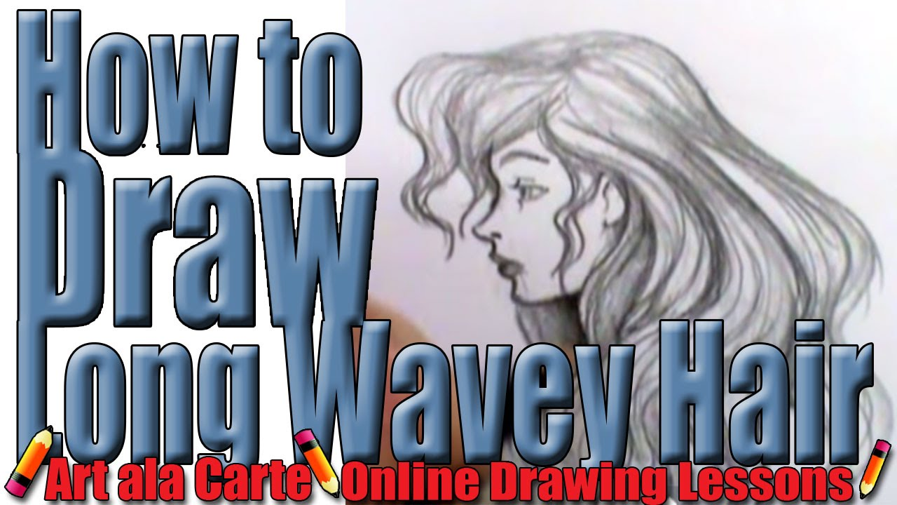 draw long wavy hair
