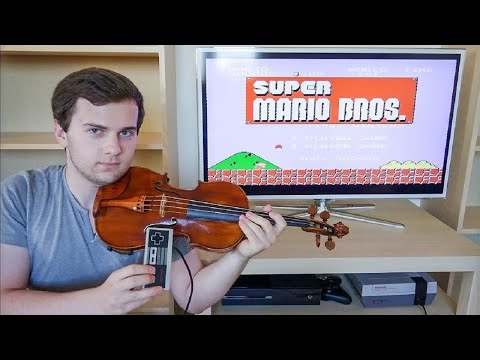 Playing Super Mario Bros on Violin