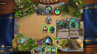 Hearthstone: Wild Jade Shudderwock vs. Kingsbane Rogue (Catalog: August 2018)