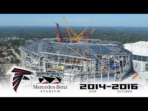 Atlanta Falcons Mercedes-Benz Stadium Time-Lapse