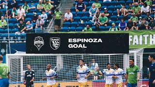 WHAT A FINISH! Cristian Espinoza tallies his second goal of the season.