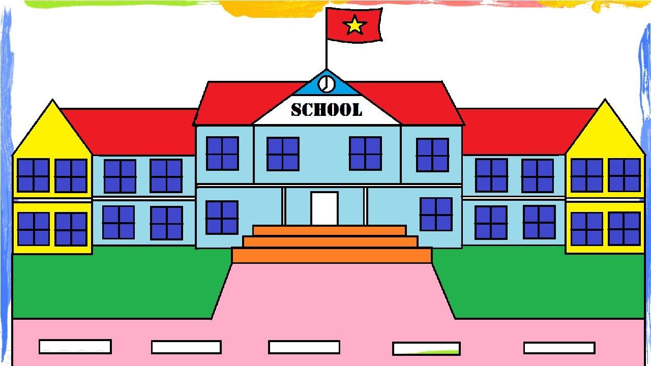 Hướng dẫn vẽ ngôi trường đẹp nhanh nhất  bằng Phần mềm Paint – Tin học tiểu học