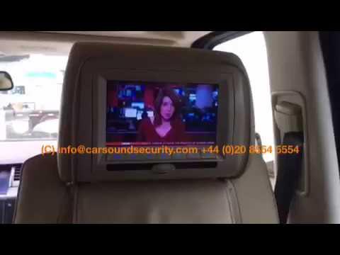 Range Rover Sport 2007 Digital Tv Integration With Rear Dvd Headrest Screens Car Sound Security