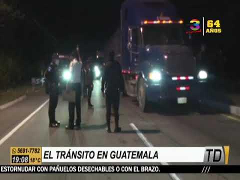 El tránsito en Guatemala