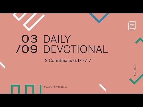 Daily Devotional with Matt Davis // 2 Corinthians 6:14-7:7 Cover Image