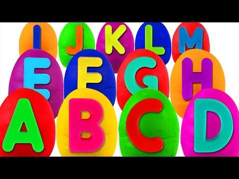 Play Doh Alphabet Surprise | ABC Songs for Children, Kindergarten Kids Learn the Alphabet, Toys