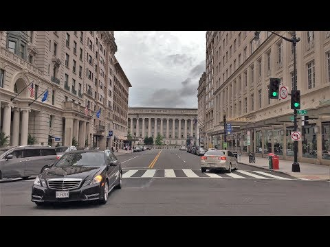 Driving Downtown 4K - Washington's Architecture - DC USA