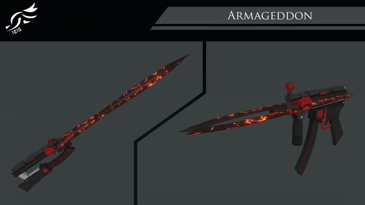 'Armageddon' -RWBY OC Weapon (Commission)