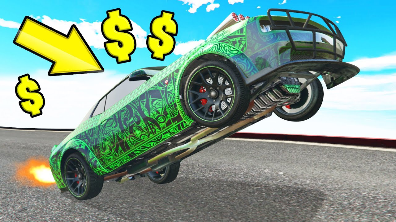 *NEW* INSANE $4,750,000 WHEELIE CAR In GTA 5! (DLC) thumbnail