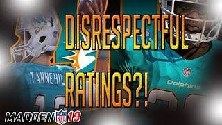 DISRESPECT?! DOLPHINS FAN REACTING TO THE MIAMI DOLPHINS MADDEN 19 RATINGS! RESHAD JONES UNDERRATED!