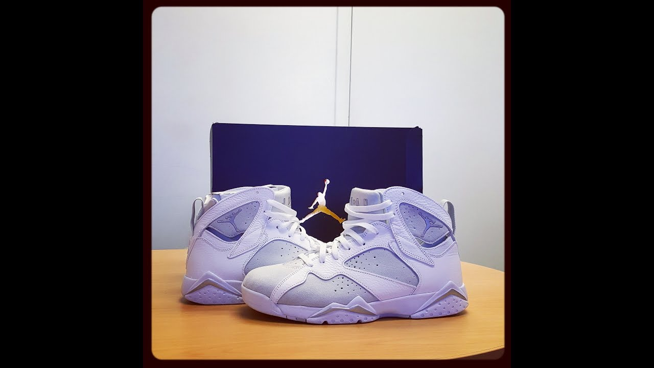 4e0e358030aeb7 Air Jordan 7 retro pure money   unboxin and on foot REVIEW - YouTube
