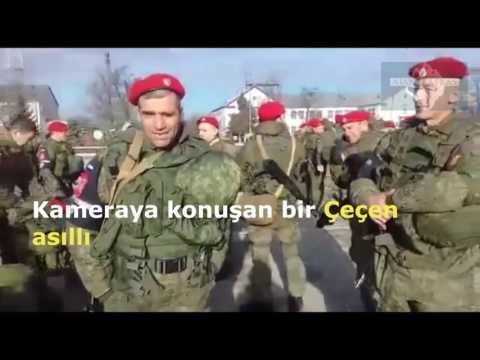 Çeçen asıllı Rus askerleri Suriye'ye giderken Grozni Çeçenya