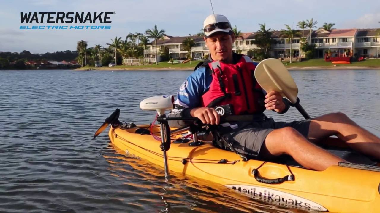 revolutionary new watersnake electric motor kayak bracket combo jarvis walker [ 1280 x 720 Pixel ]