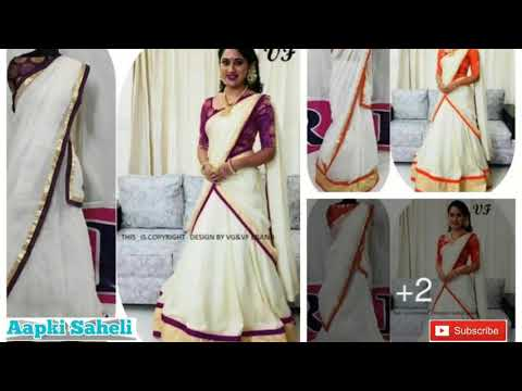 South Indian Style Chanderi Cotton Lehenga Choli