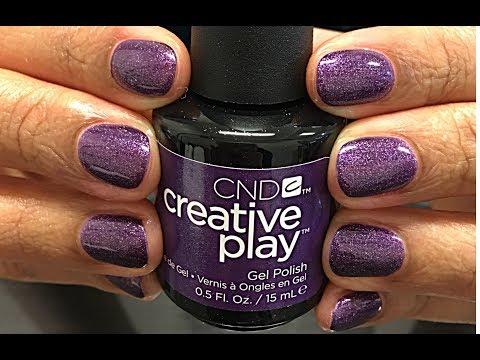 CND Creative PLAY Gel Polish manicure Miss Purplelarity (FULL service at the salon)